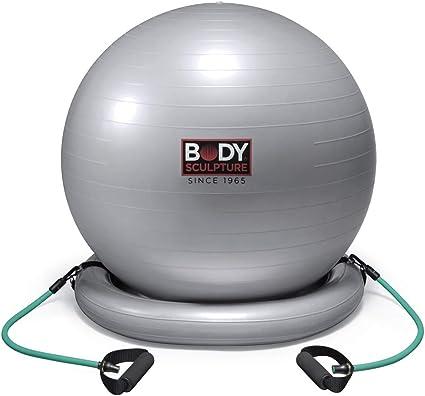 Body Sculpture Pelota con Base Pilates - Core Ball: Amazon.es ...