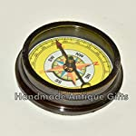 Nautical World Antique Brass Compass Open FACE Gift for Men & Woman Steampunk Navigation 10