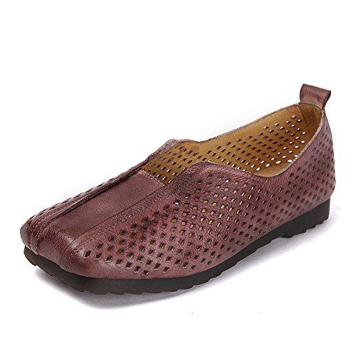 Forêt Café Chaussures Chaussures Pied Chaussures la ZFNYY Chaussures Main à de Creuses Plates la xqnpUCO
