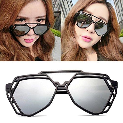 élégant nouveau personnalisé des lunettes de soleil mesdames les lunettes de soleil les lunettes de marée star hommes visage rond korean les yeuxboîte noire green film (sac) QQVMAO