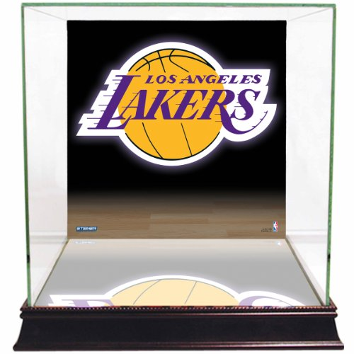 NBA Los Angeles Lakers Glass Basketball Display Case with Team Logo ()
