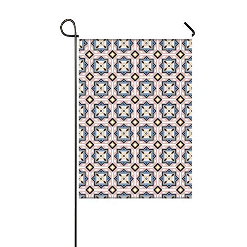 "Lucy Curme Arabic Tiles Pattern Garden Flag Outdoor Patio Seasonal Holiday 12"" x 18"""