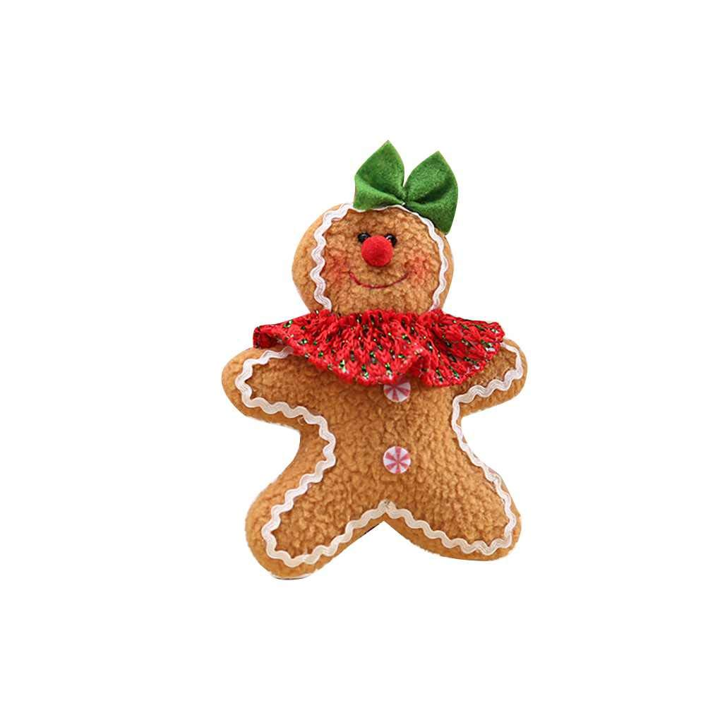Masterein Merry Christmas Tree Gingerbread Man Event Party Cloth Boy Girl Holiday Festival Hanging Pendant