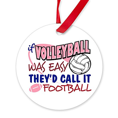 CafePress Volleyball was Easy Round Christmas Ornament