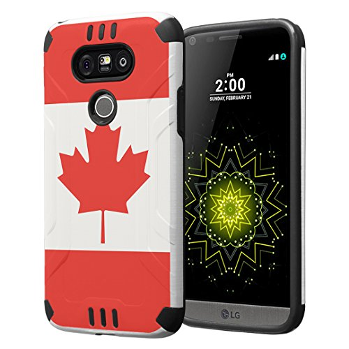 Tough Hybrid Dual Layer Case for LG G5 (Red) - 9