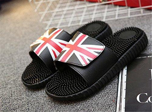 Bininbox Mens Sandales Plates Sandales Pantoufles Respirant Chaussures Open-toe Sport Drapeau