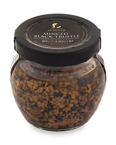 TruffleHunter Minced Black Truffle (2.82 Oz) Preserved in Extra Virgin Olive Oil - Gourmet Food Condiments Garnish - Vegan, Vegetarian, Kosher and Gluten Free - No MSG, Non-GMO (Pasta Sauce With Butter And Olive Oil)