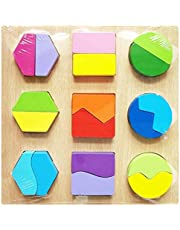 Educational Wooden Puzzle to Teaching Children Geometric Shapes and Colors