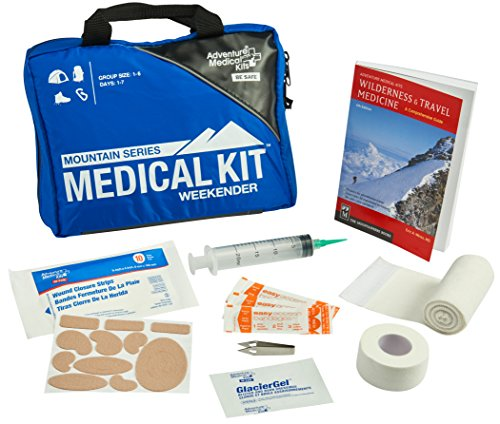 Adventure Medical Kits Mountain Series Weekender First Aid Kit, Backcountry Medical Care, Comprehensive Guide, Easy Care, Water-Resistant Zipper, Durable Case, Lightweight, -