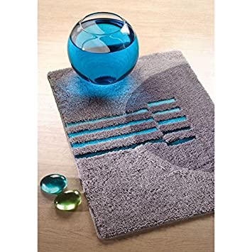 Badteppich Türkis badteppich mondo grau und blau türkis amazon de baumarkt