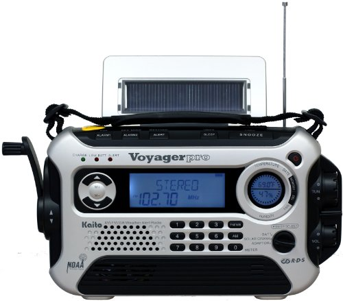 Kaito Voyager Pro KA600 Digital Solar NOAA Weather Emergency Radio with Alert