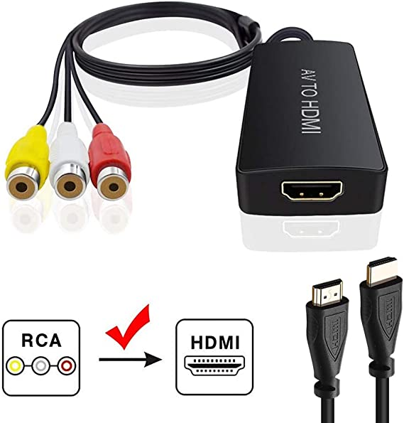 [SCHEMATICS_48IU]  Amazon.com: Composite to HDMI Converter, N64 to HDMI, AV to HDMI Support  1080P with Power Adapter, RCA to HDMI for PS One, PS2, PS3, N64, WII, WII U  and SEGA Video Games | Black Web Hdmi Cable Wire Diagram |  | Amazon.com