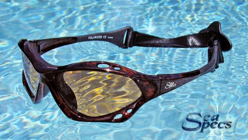 Seaspecs Tortuga Specs Extreme Sunglasses Tortoise Shell lightweight frames, with POLARIZED brown - Sunglasses Watersports