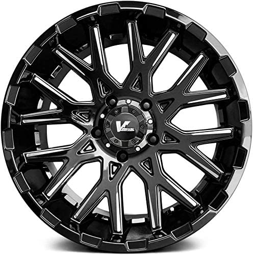 V-Rock Recoil Gloss Black//Milled Spokes Wheel 18 x 9.5 inches //5 x 5 inches, 0 mm Offset