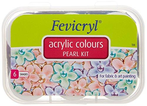 Fevicryl Acrylic Colors, Pearl Kit, 6 Shades by Fevicryl
