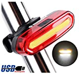SIGEM Bike Tail Light, Headlight, Ultra Bright & USB Rechargeable, Bicycle Flashing Rear taillight, LED Safety Warning Strobe Head Light, Also for Helmet and Backpack (White) Review