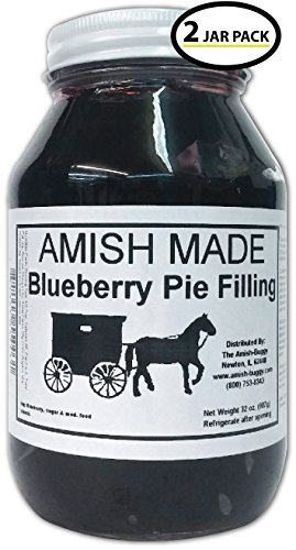 Amish Pie Filling Blueberry - TWO 32 Oz Jars