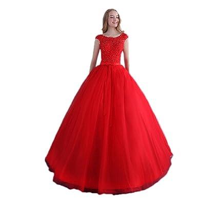 Aurora Bridal Women\'s Elegant Cap-Sleeve Lace Bridal Gowns at Amazon ...