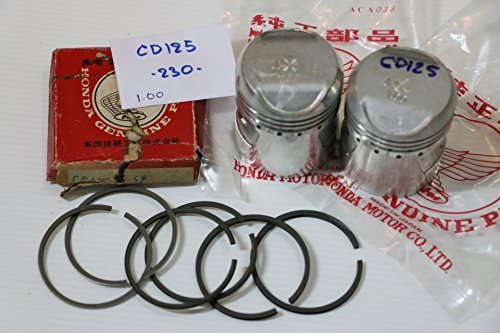 Genuine Honda CD125 SS125 Piston + Ring size1.00 - Piston Nos Honda