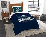 Mariners OFFICIAL Major League Baseball, Bedding, Printed Twin Comforter (64x 86) & 1 Sham (24x 30) Set