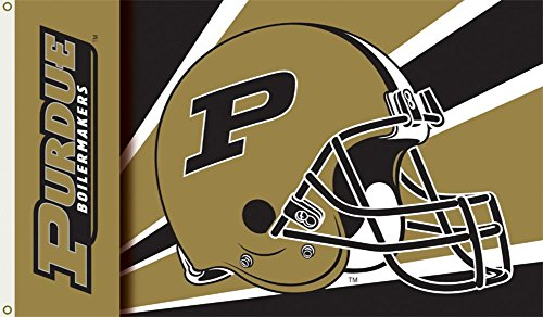 - NCAA Purdue Boilermakers Helmet Flag with Grommets 60 x 36in