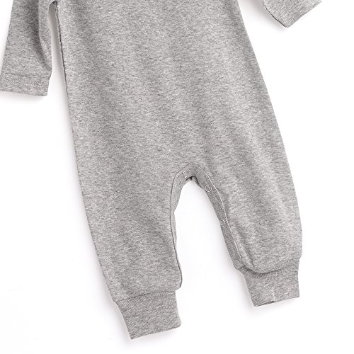 2521aef8d49f Tesa Babe Grey Long Sleeve Baby Romper for Baby Girls and Baby Boys ...