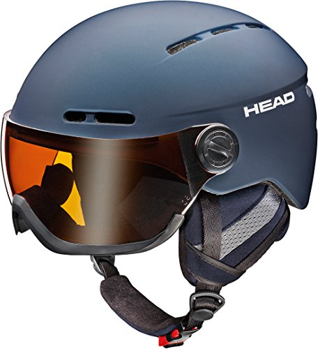 HEAD KNIGHT PRO Night blue ski snowboard winter sports Helmet with extra lens/visor 2018 model New (M/L)