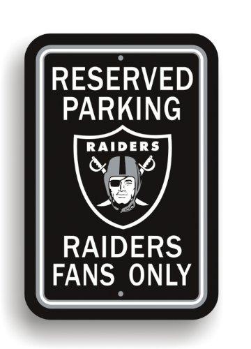 Fremont Die NFL Oakland Raiders Plastic Parking Sign