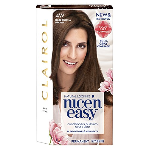 Clairol Nice 'N Easy Permanent Hair Color, 4W Dark Mocha Brown (Packaging May Vary)