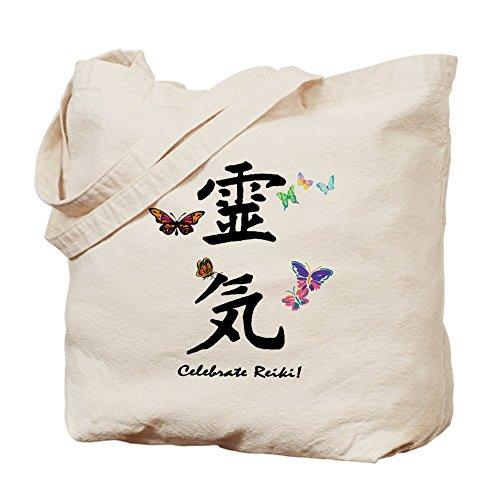 Cafepress–Celebrate Reiki–Borsa di tela naturale, tessuto in iuta