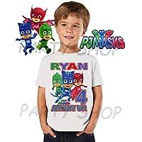 Pj Masks Birthday Shirt, Pj Masks Birthday Party, Add Any Name and Age, Family Matching Shirts, Boys and Girls Birthday Shirts, Pj Masks Personalized Shirt 5