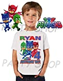 Pj Masks Birthday Shirt, Pj Masks Birthday Party, Add Any Name and Age, Family Matching Shirts, Boys and Girls Birthday Shirts, Pj Masks Personalized Shirt 5