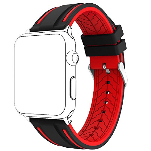 For Apple Watch Band, Copbis Silicone and Sport Replacement Straps Watch Wristband for Iwatch Bands