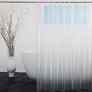 Translucent Shower Curtain 3D Dots Circles Pattern Design By Ufriday Eco Friendly 15 Gauge EVA Liner Stall Size 36 X 72 Inch