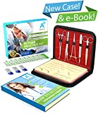 A+ Medics Suture Kit | Complete Suture Practice Kit with New 2019 Case & Interactive eBook | Incl. Skin Like Suture Pad, Thread Sutures, Surgical Tools & Carryall Leather Case | for Medical Students