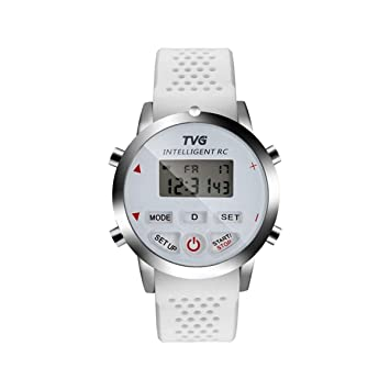 WULIFANG Los Hombres Smart Watch Reloj Digital Pulsera De Silicona De Monitor Dual Y Día De Semana Sports Watch Blanco: Amazon.es: Deportes y aire libre
