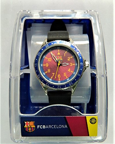 Reloj niño negro azul deporte FC Barcelona Fútbol Deporte: Amazon.es: Relojes