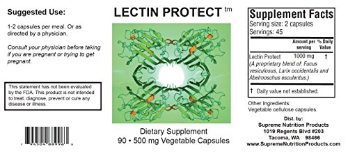 Supreme Nutrition Lectin Protect, 90 Caps