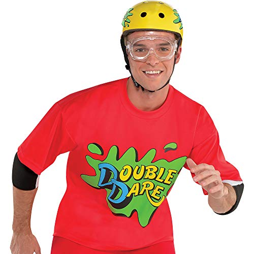 amscan Nickelodeon Red Double Dare Halloween Costume Accessory Kit for Adults, One Size -