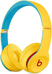 Beats Solo3 Wireless On-Ear Headphones - Apple W1 Headphone Chip, Class 1 Bluetooth, 40 Hours Of Listening Time - Club Yellow (Latest Model)