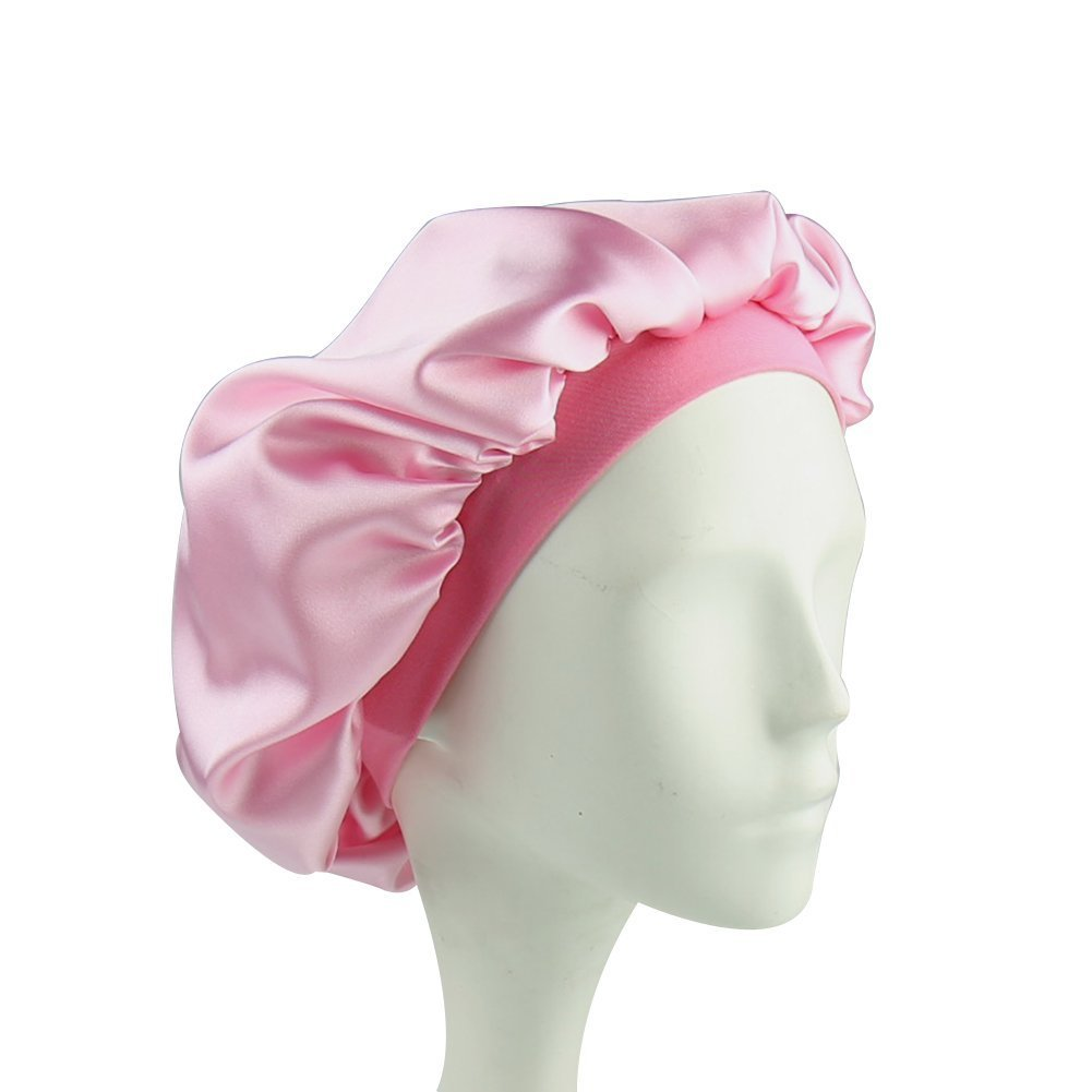 Sleep Cap for Kids Satin Hair Scarf Girls Night Head Wraps Bonnet for Hair Beauty Floral Silk Nightcap Multifunctional Headwear