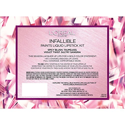 L'Oreal Paris Cosmetics Infallible Paints Liquid Lipstick Set