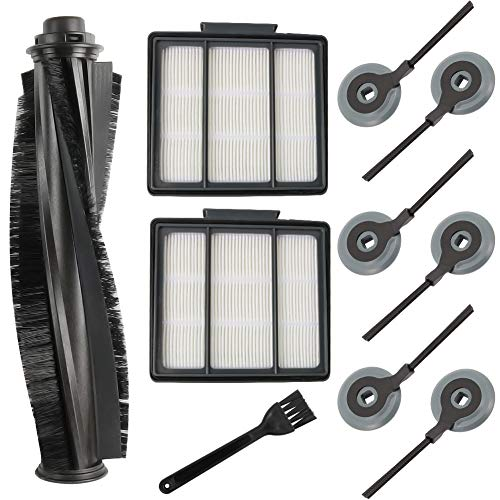 ABC life ION Robot Replacement Parts Compatible for Shark S87 R85 RV850 Vacuum Cleaner(1 Main BrushRoller & 2 Hepa Filters & 6 Side Brushes)