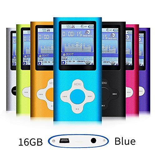 G.G.Martinsen Blue 16GB Versatile MP3/MP4 Player with Photo