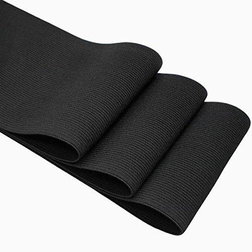 3 Wide Black Knitting Heavy Stretch High Elasticity Elastic Band 3 Yards
