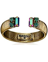 "Sorrelli""Wild Fern"" Petite Crystal Open Ring, Size 7-9"