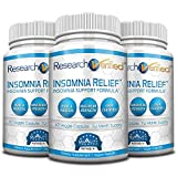 Research Verified Insomnia Relief - Best Insomnia Relief Supplement - with L-ornithine, Melatonin and Valerian Root - Natural Sleep Aid for Insomnia Relief - 3 Months Supply