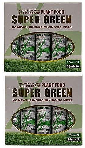 KL Design & Import - 20 Bottles of Super Green Green Lucky Bamboo Fertilizer Plant Food *NEW* - Liquid Plant Food
