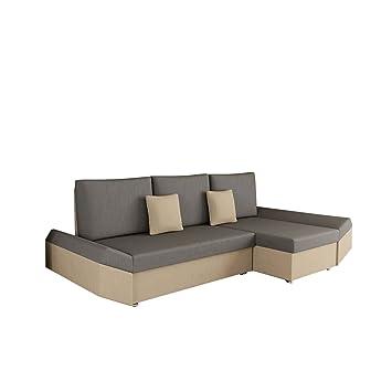 Elegant Ecksofa Moric Style, Eckcouch Sofa Mit Schlaffunktion Und Bettkasten! Inkl.  Kissen Couch,