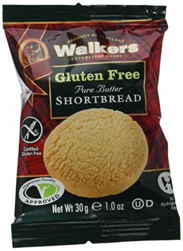 Walkers Shortbread Gluten-Free Pure Butter Shortbread Rounds Snack Packs, 1 Ounce Snack Pack (24 Count) Pure Butter Gluten Free Shortbread Cookies from the Scottish Highlands